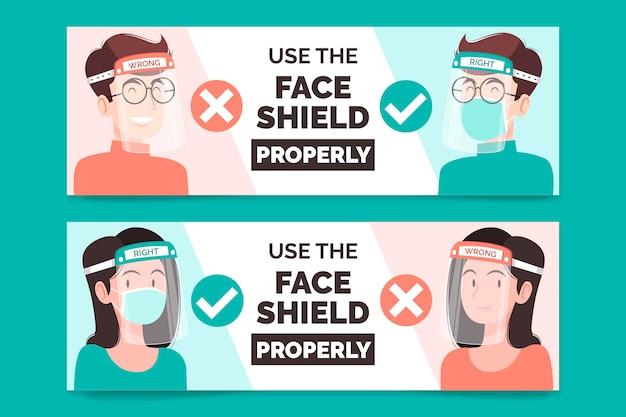 Banner für die verwendung von gesichtsmasken