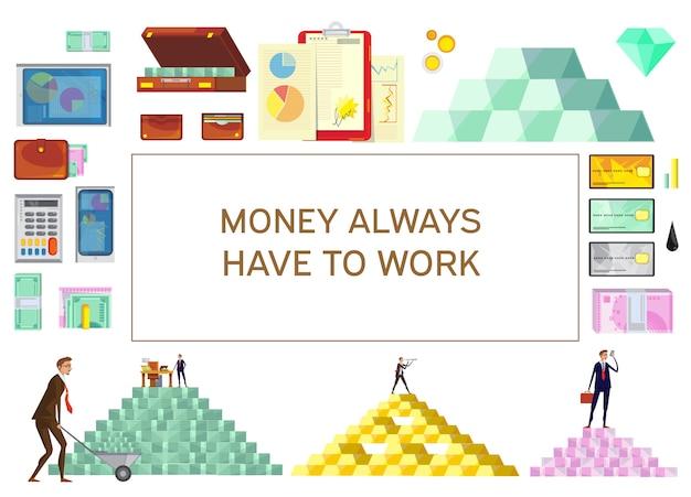Banner für finanziellen wohlstand