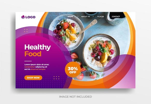 Banner für gesundes essen