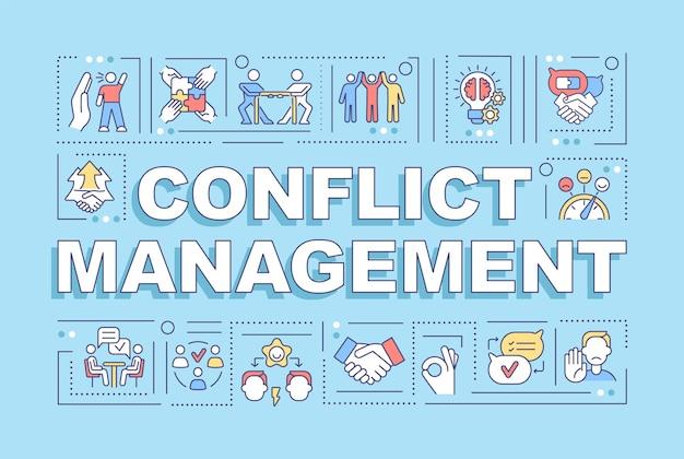 Banner für konfliktmanagement-wortkonzepte