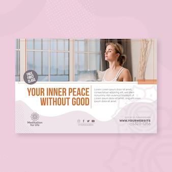 Banner für meditation und achtsamkeit