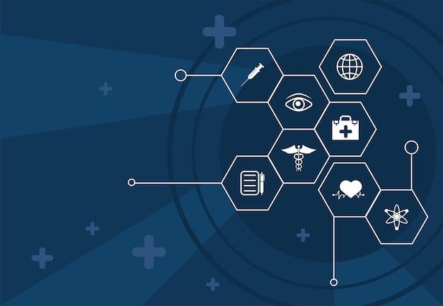 Banner für medizinisches gesundheitswesen