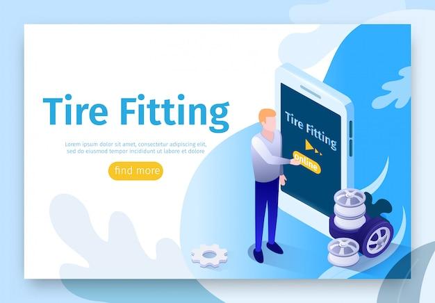 Banner für online-suche reifenmontageservice