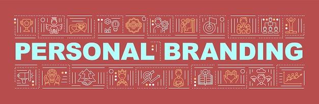 Banner für persönliche branding-wortkonzepte
