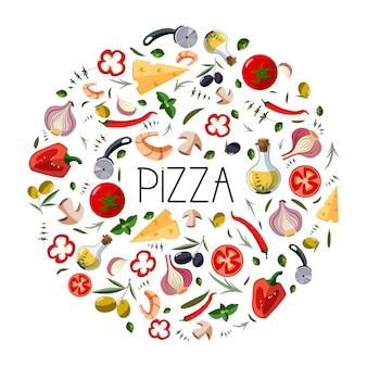Banner für pizzakarton