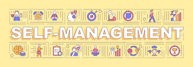 Banner für selbstmanagement-wortkonzepte