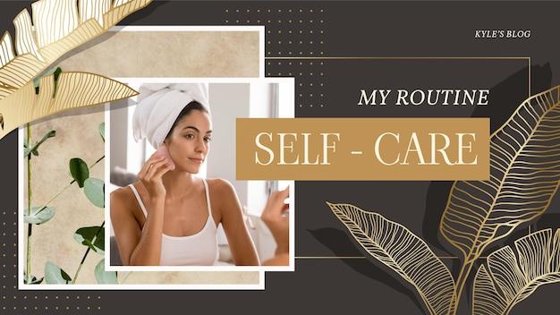 Banner für selbstpflege-designvorlagen