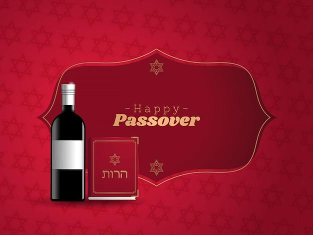 Banner für traditionelle jüdische feiertage happy passover.
