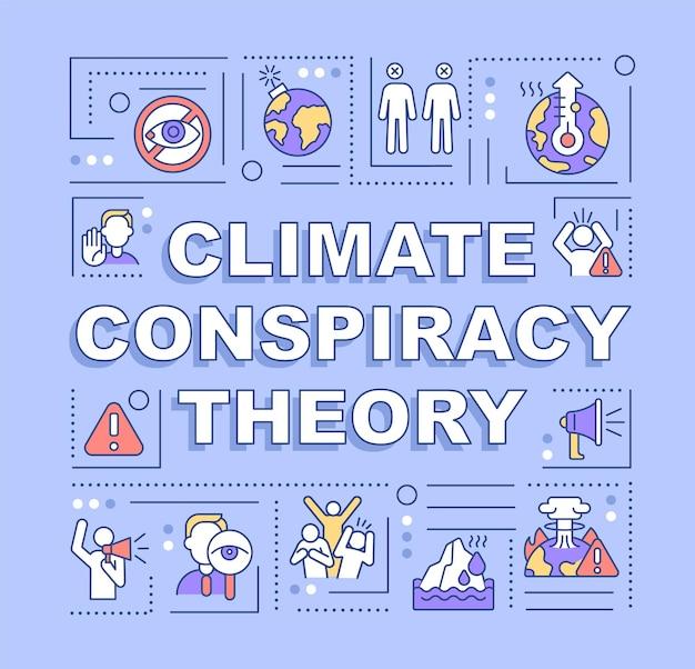 Banner für wortkonzepte der klimaverschwörungstheorie
