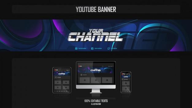 Banner für youtube-kanal mit aerobic-konzept