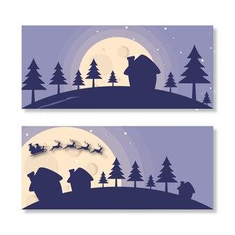 Banner landschaft weihnachten