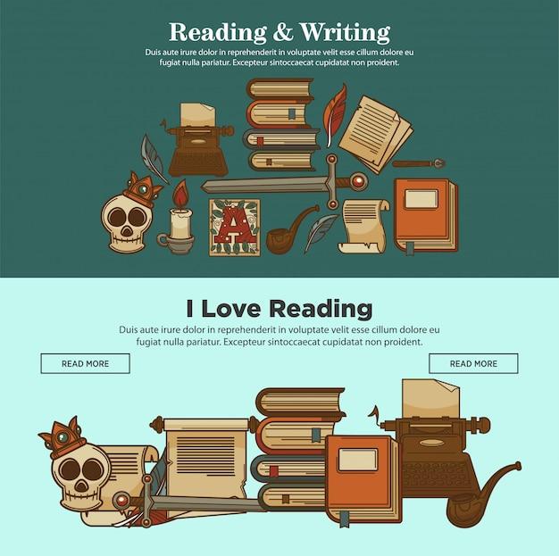Banner lesen und schreiben
