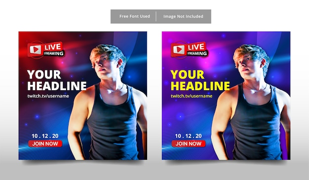 Banner live-streaming-vorlage design.