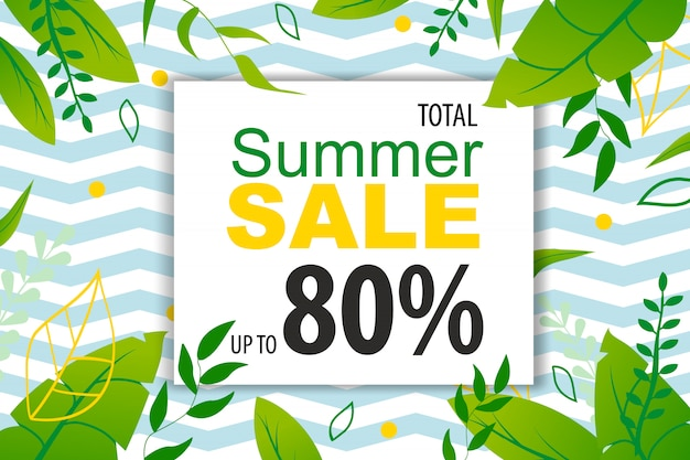 Banner mit bis zu 80 prozent verkaufsförderung im sommer