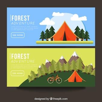 Banner mit campingplätzen