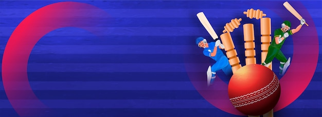 Banner mit cricket-turnieren und schläger