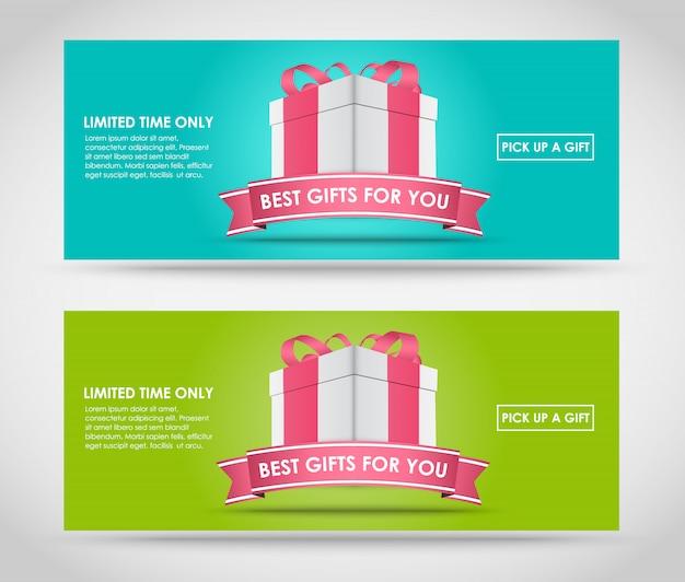 Banner mit geschenkbox