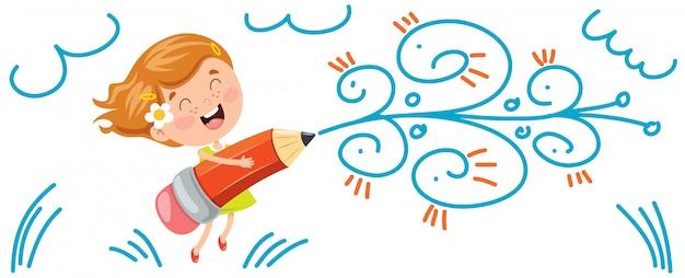 Banner mit glücklichen kindern