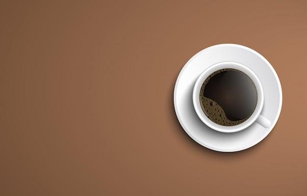 Banner mit kaffeetasse