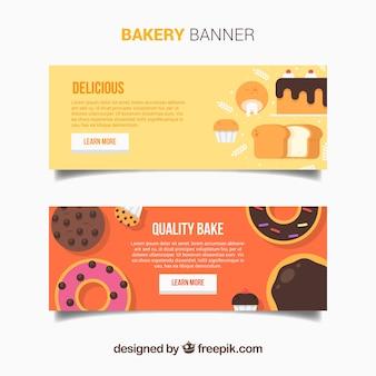 Banner mit köstlichen desserts