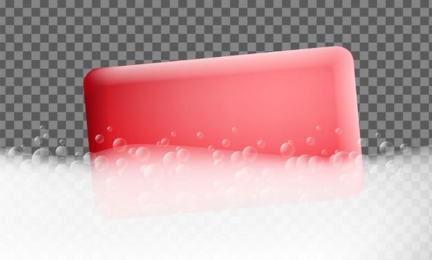 Banner mit schaumeffekt. realistische illustration der schaumeffektvektorfahne für webdesign