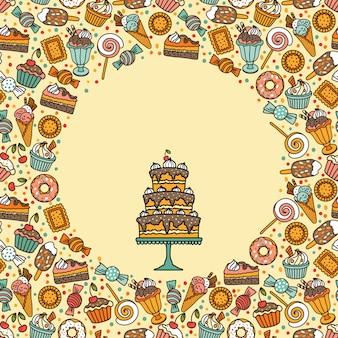 Banner mit süßigkeiten