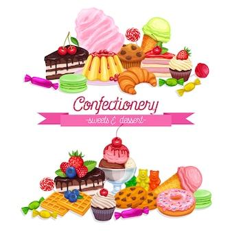 Banner mit süßwaren