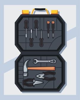 Banner mit vollständiger toolbox geöffnet