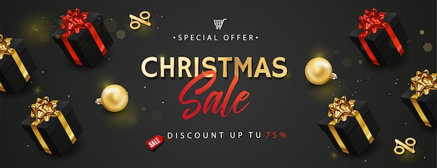 Banner oder plakat für weihnachtsverkauf.