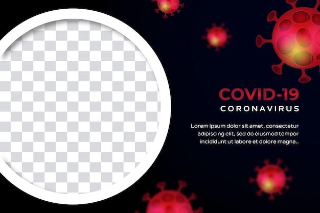 Banner oder poster covid-19 coronavirus