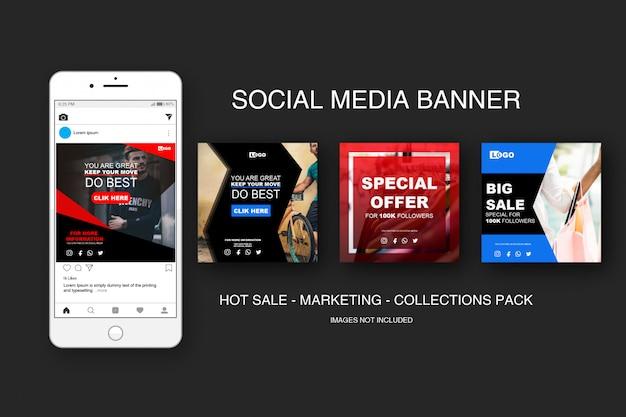 Banner sale instagram sammlungen pack