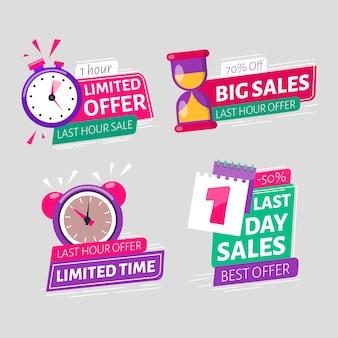 Banner sales countdown sammlung