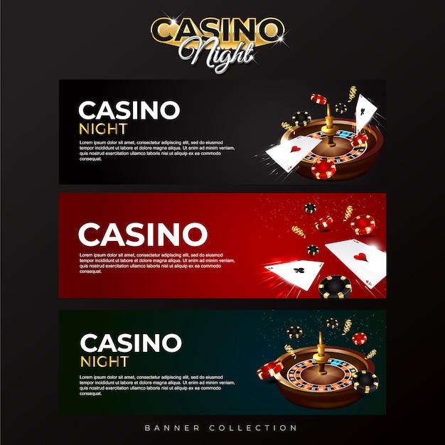 Banner sammlung casino nacht
