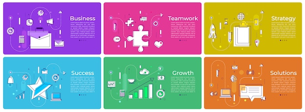 Banner set digitales marketing