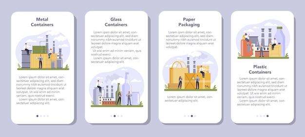 Banner-set für mobile anwendungen der container- und verpackungsindustrie