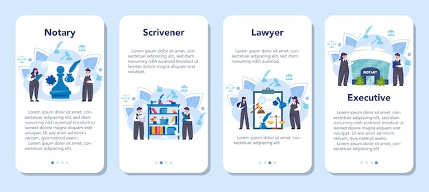 Banner-set für mobile notariatsanwendungen