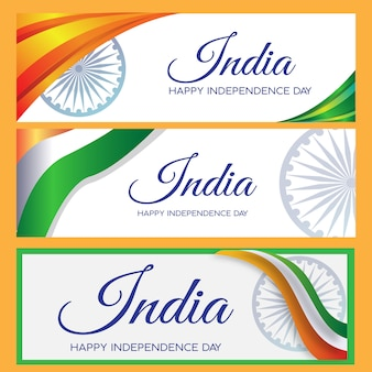 Banner set india independence day