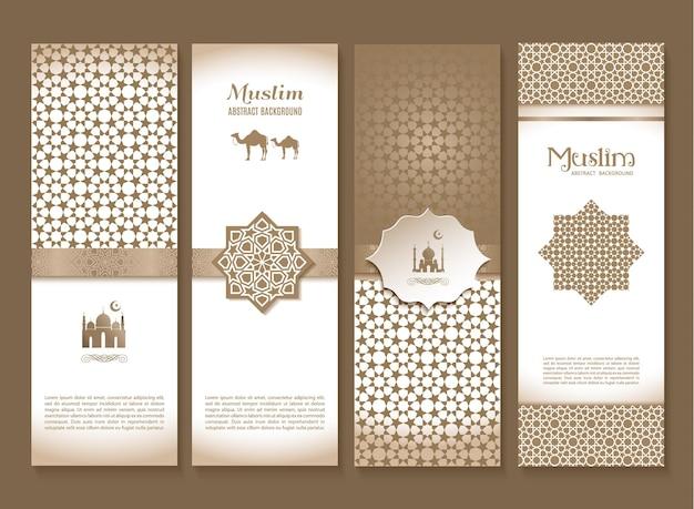 Banner-set von ethnischen design religion abstrakten set