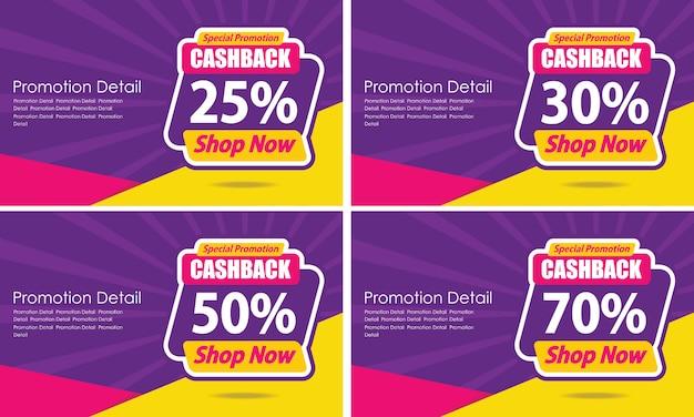 Banner template design garantiert cashback