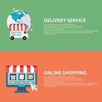 Banner über e-commerce