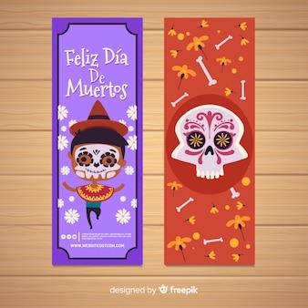 Banner von feliz dia de muertos