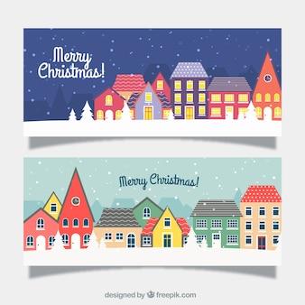 Banner von weihnachtsstädten