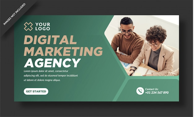 Banner-vorlage der digital marketing agency