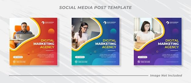 Banner-vorlage für business-marketing-social-media-posts