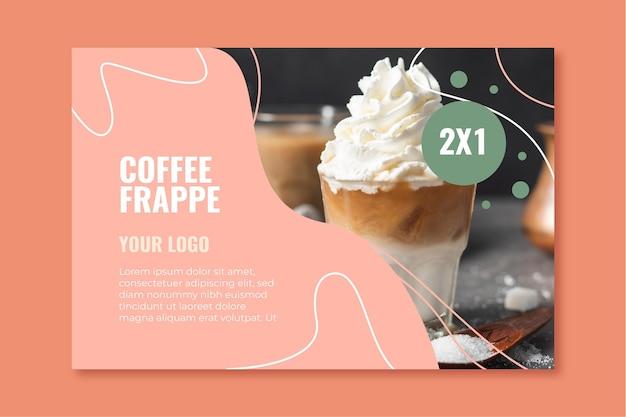 Banner vorlage für coffeeshop
