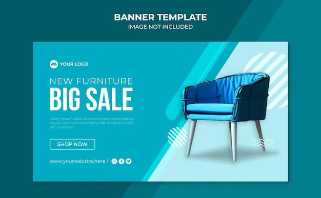 Banner-vorlage für den großen verkauf von möbeln
