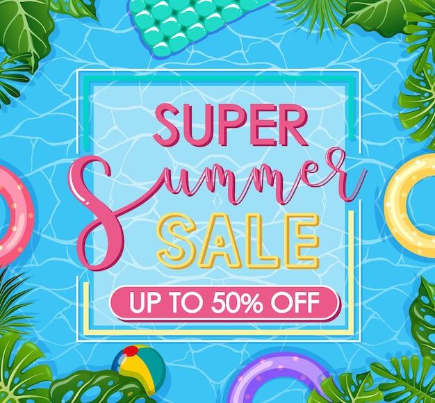 Banner-vorlage für den super-sommer-sale