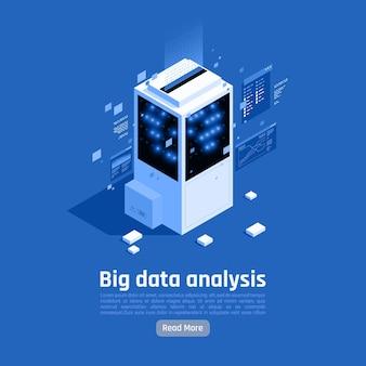 Banner-vorlage für die big-data-analyse Premium Vektoren
