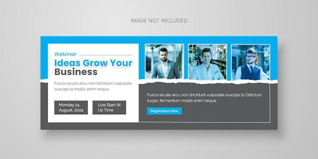 Banner-vorlage für digitales business-webinar premium-vektor