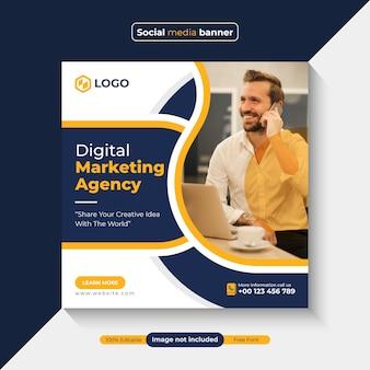 Banner-vorlage für digitales marketing für social-media-posts